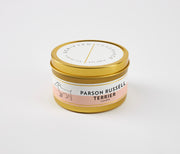 Parson Russell Terrier Dog Breed Soy Candle in Large Luxe Gold Tin