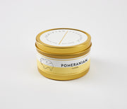 Pomeranian Dog Breed Soy Candle in Large Luxe Gold Tin