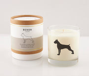 Boxer Dog Breed Soy Candle in Signature Silhouette Glass