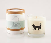 Cat Soy Candle in Signature Silhouette Glass