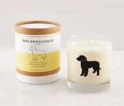 Goldendoodle Dog Breed Soy Candle in Signature Silhouette Glass