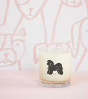 Bichon Frise Dog Breed Soy Candle in Signature Silhouette Glass