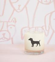 Parson Russell Terrier Dog Breed Soy Candle in Signature Silhouette Glass