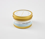 Colorado State Soy Candle in Large Luxe Gold Tin