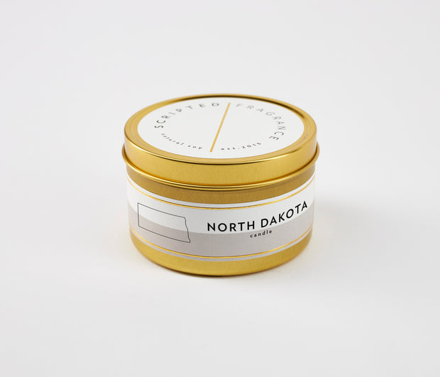North Dakota State Soy Candle in Large Luxe Gold Tin