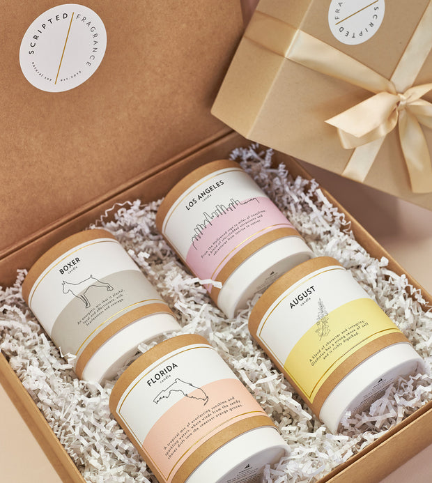 Create Your Own Gift Set | 4 Signature Silhouette Glass Soy Candles