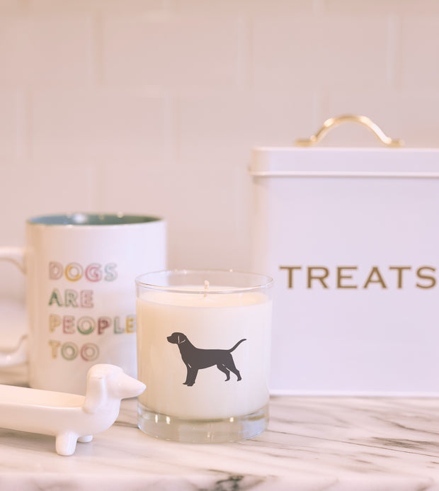 Labrador Retriever Dog Breed Soy Candle in Signature Silhouette Glass