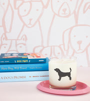 Beagle Dog Breed Soy Candle in Signature Silhouette Glass