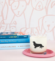 Cavalier King Charles Spaniel Dog Breed Soy Candle in Signature Silhouette Glass