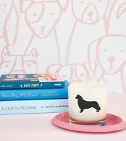 Border Collie Dog Breed Soy Candle in Signature Silhouette Glass