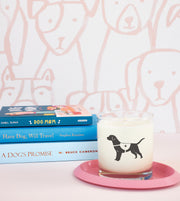 Service Dog Soy Candle in Signature Silhouette Glass