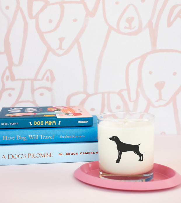 Weimaraner Dog Breed Soy Candle in Signature Silhouette Glass