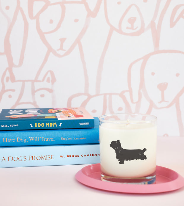 Yorkshire Terrier Dog Breed Soy Candle in Signature Silhouette Glass