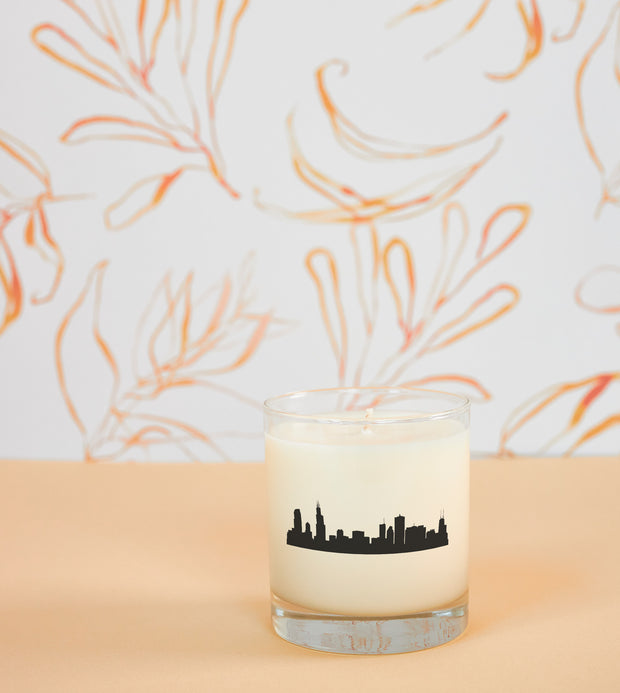 Chicago, Illinois City Soy Candle with Signature Silhouette Glass