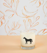 Horse Soy Candle in Signature Silhouette Glass