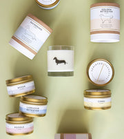 German Shepherd Dog Breed Soy Candle in Large Luxe Gold Tin