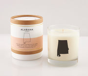 Alabama State Soy Candle in Signature Silhouette Glass
