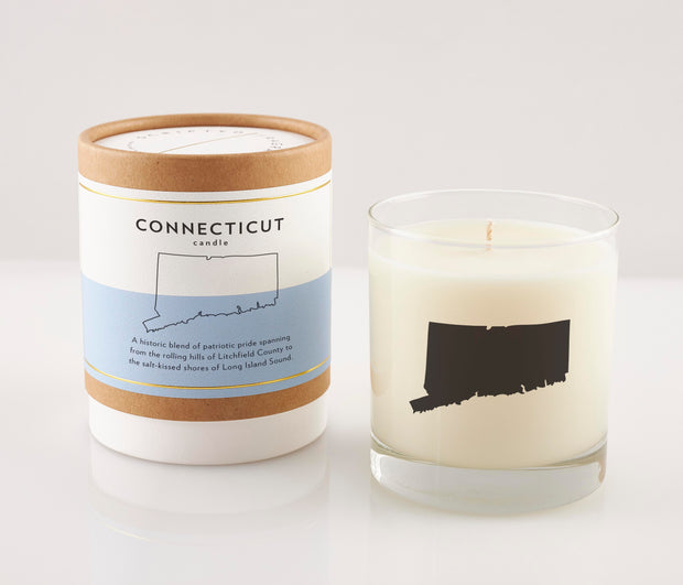 Connecticut State Soy Candle in Signature Silhouette Glass