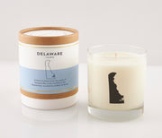 Delaware State Soy Candle in Signature Silhouette Glass