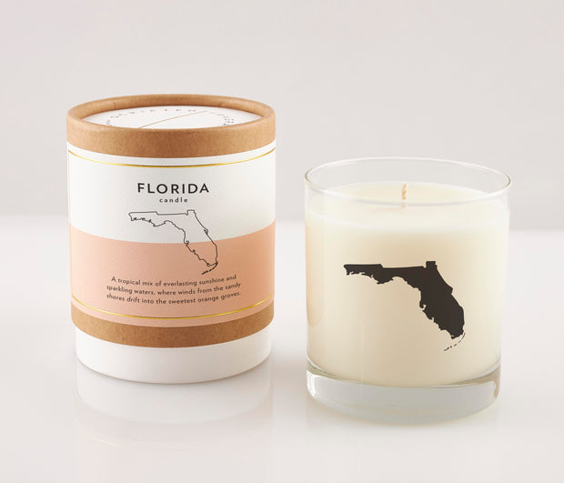 Florida State Soy Candle in Signature Silhouette Glass