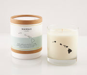 Hawaii State Soy Candle in Signature Silhouette Glass