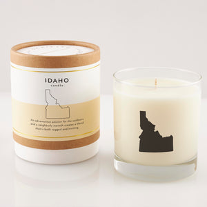 Idaho State Soy Candle in Signature Silhouette Glass