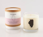 Illinois State Soy Candle in Signature Silhouette Glass