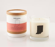 Indiana State Soy Candle in Signature Silhouette Glass