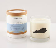 Kentucky State Soy Candle in Signature Silhouette Glass