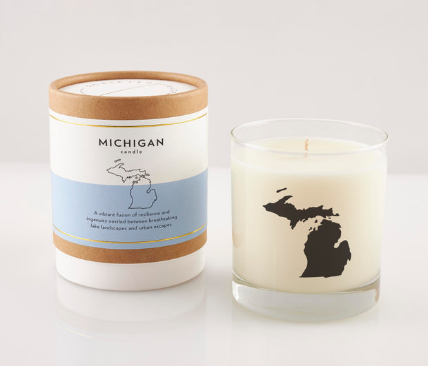Michigan State Soy Candle in Signature Silhouette Glass