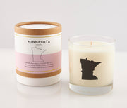 Minnesota State Soy Candle in Signature Silhouette Glass