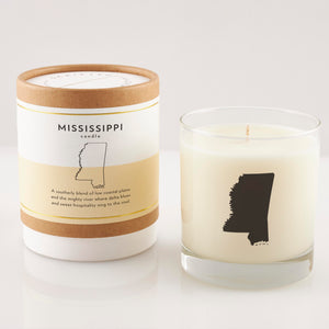 Mississippi State Soy Candle in Signature Silhouette Glass