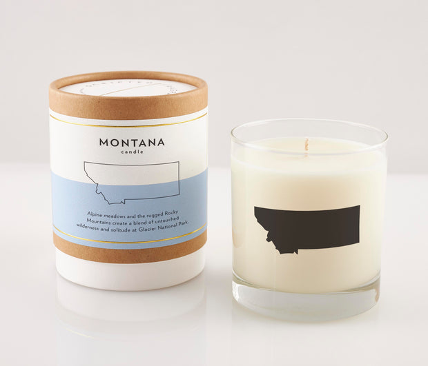Montana State Soy Candle in Signature Silhouette Glass