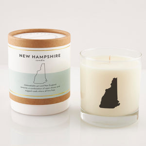 New Hampshire State Soy Candle in Signature Silhouette Glass