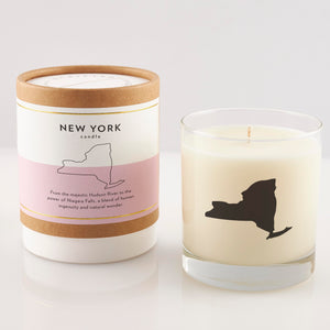 New York State Soy Candle in Signature Silhouette Glass