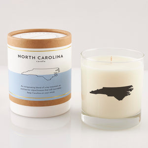 North Carolina State Soy Candle in Signature Silhouette Glass