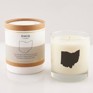 Ohio State Soy Candle in Signature Silhouette Glass