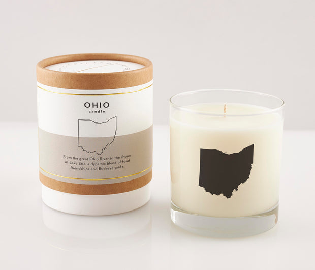 Ohio State Soy Candle in Signature Silhouette Glass 1