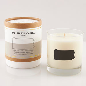 Pennsylvania State Soy Candle in Signature Silhouette Glass
