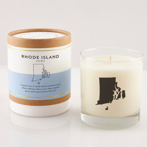 Rhode Island State Soy Candle in Signature Silhouette Glass