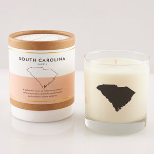 South Carolina State Soy Candle in Signature Silhouette Glass
