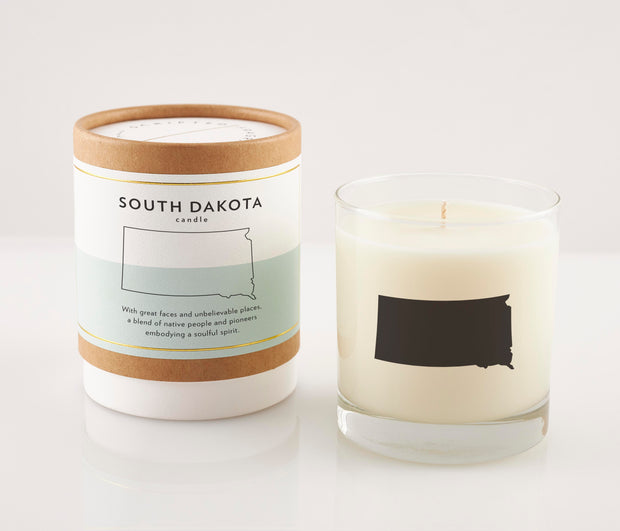 South Dakota State Soy Candle in Signature Silhouette Glass
