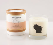 Wisconsin State Soy Candle in Signature Silhouette Glass