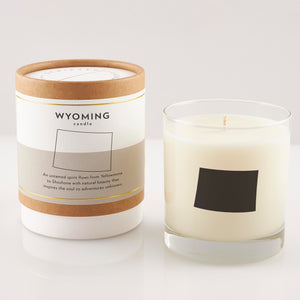 Wyoming State Soy Candle in Signature Silhouette Glass
