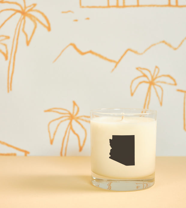 Arizona State Soy Candle in Signature Silhouette Glass