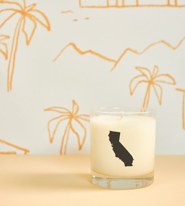 California State Soy Candle in Signature Silhouette Glass