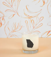 Georgia State Soy Candle in Signature Silhouette Glass
