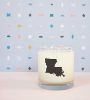 Louisiana State Soy Candle in Signature Silhouette Glass