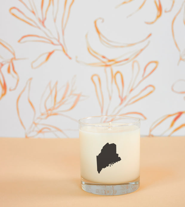 Maine State Soy Candle in Signature Silhouette Glass