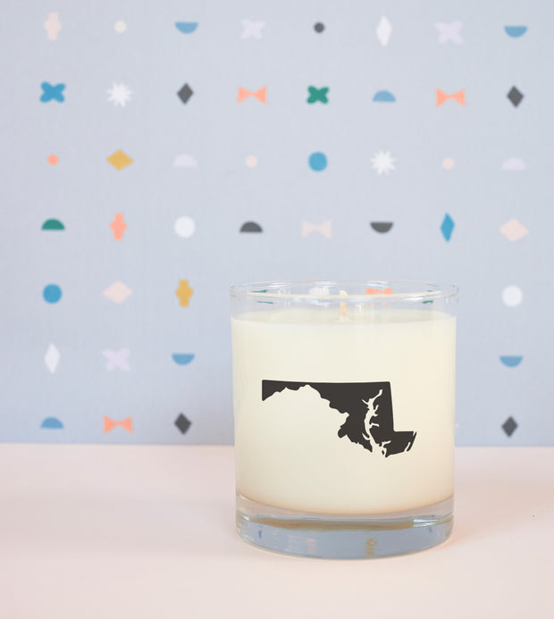 Maryland State Soy Candle in Signature Silhouette Glass